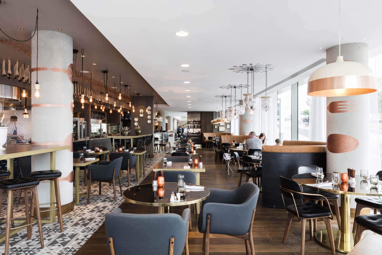 Hilton Bournemouth – Restaurant looking towards reception