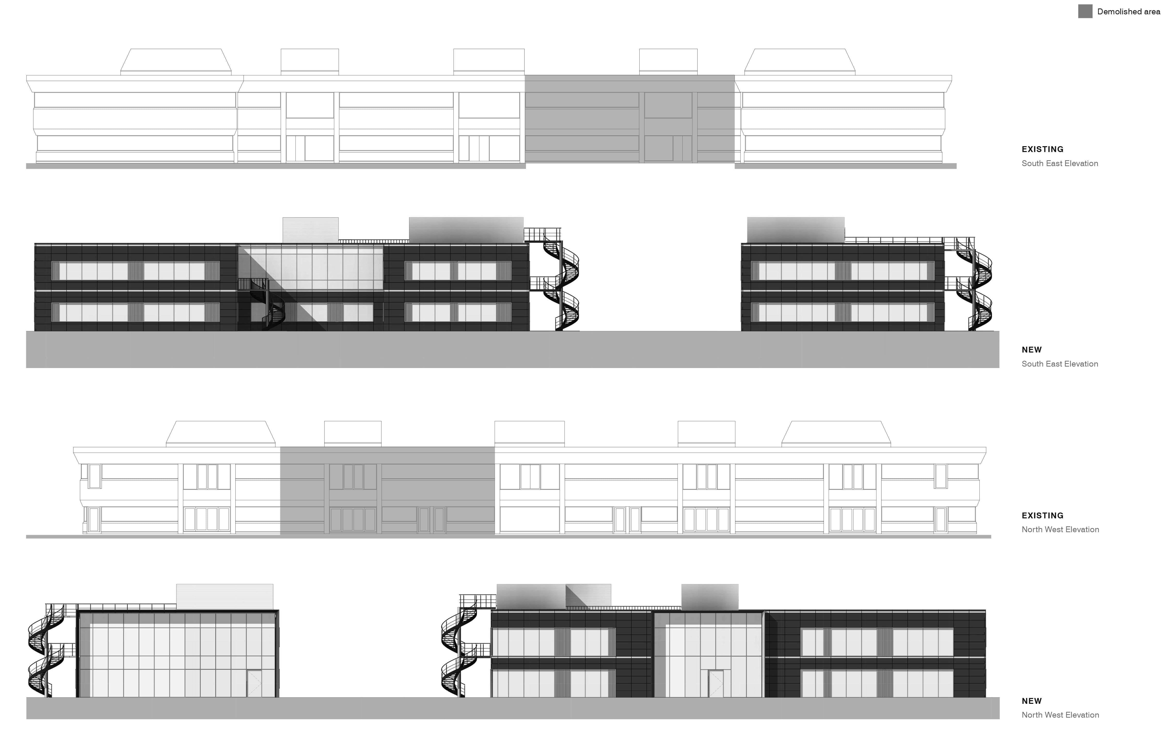 Weybridge Before And After Drawings