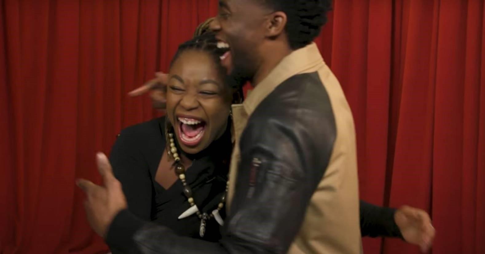 Chadwick Boseman Surpises Fans